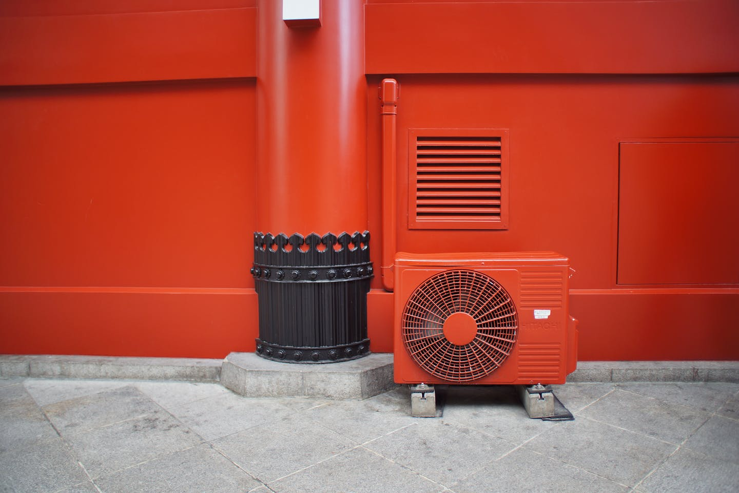 An air conditioning unit installed at Senso-ji, Tokyo's oldest temple.