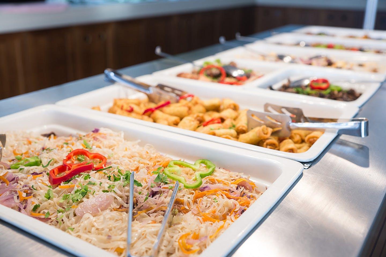 A hotel buffet