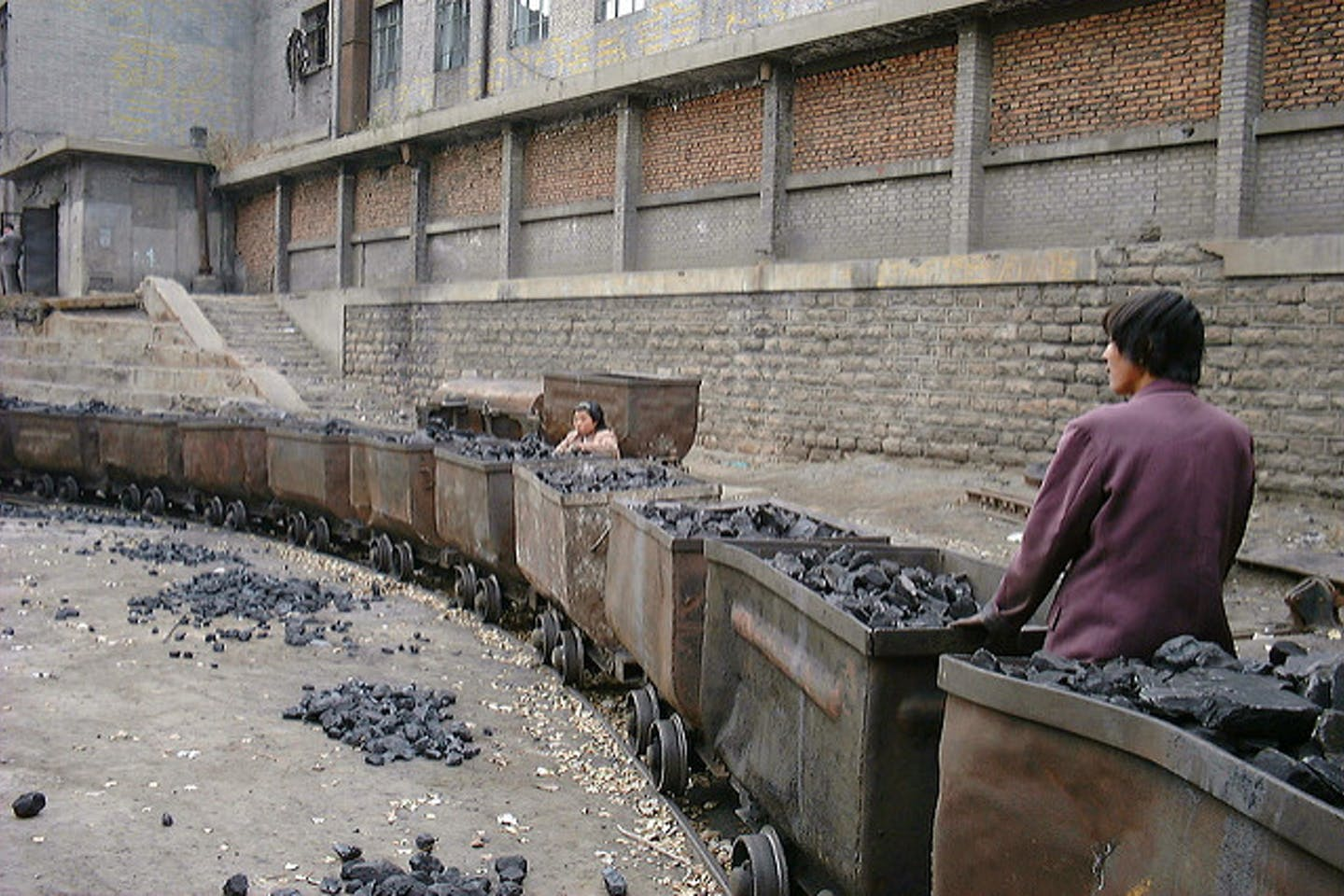 workers at a coal mine