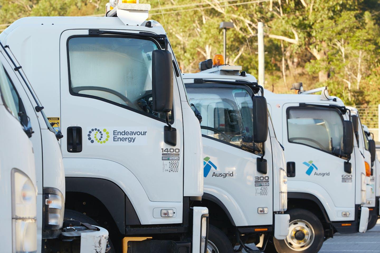Australian energy company trucks
