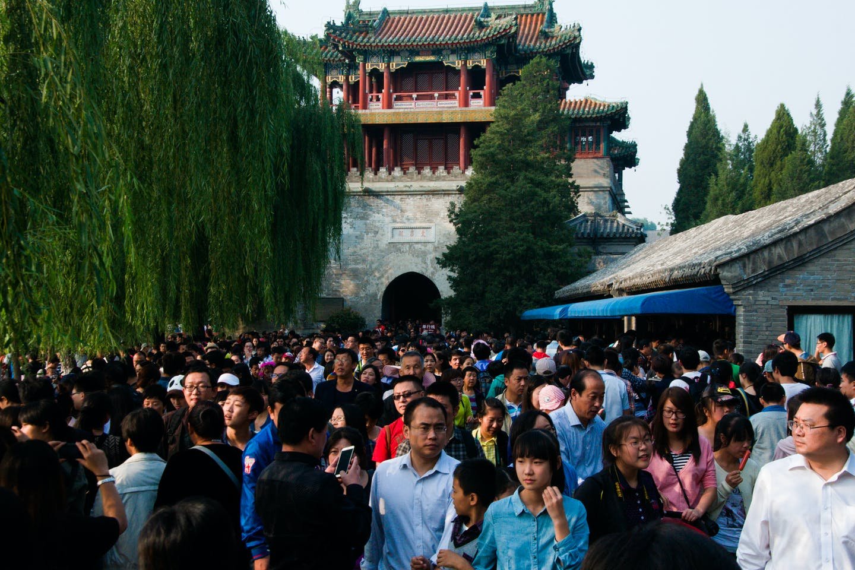 Crowded Beijing