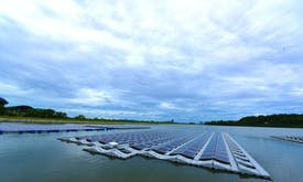 In land-scarce Southeast Asia, solar panels float on water