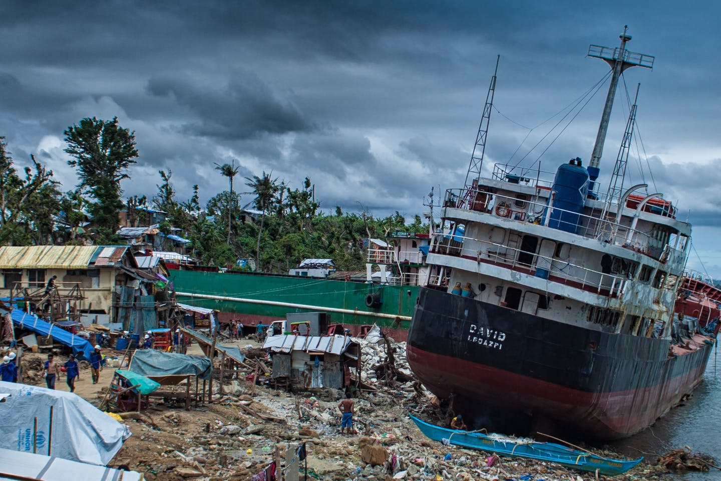 Tacloban after Typhoon Haiyan in 2014