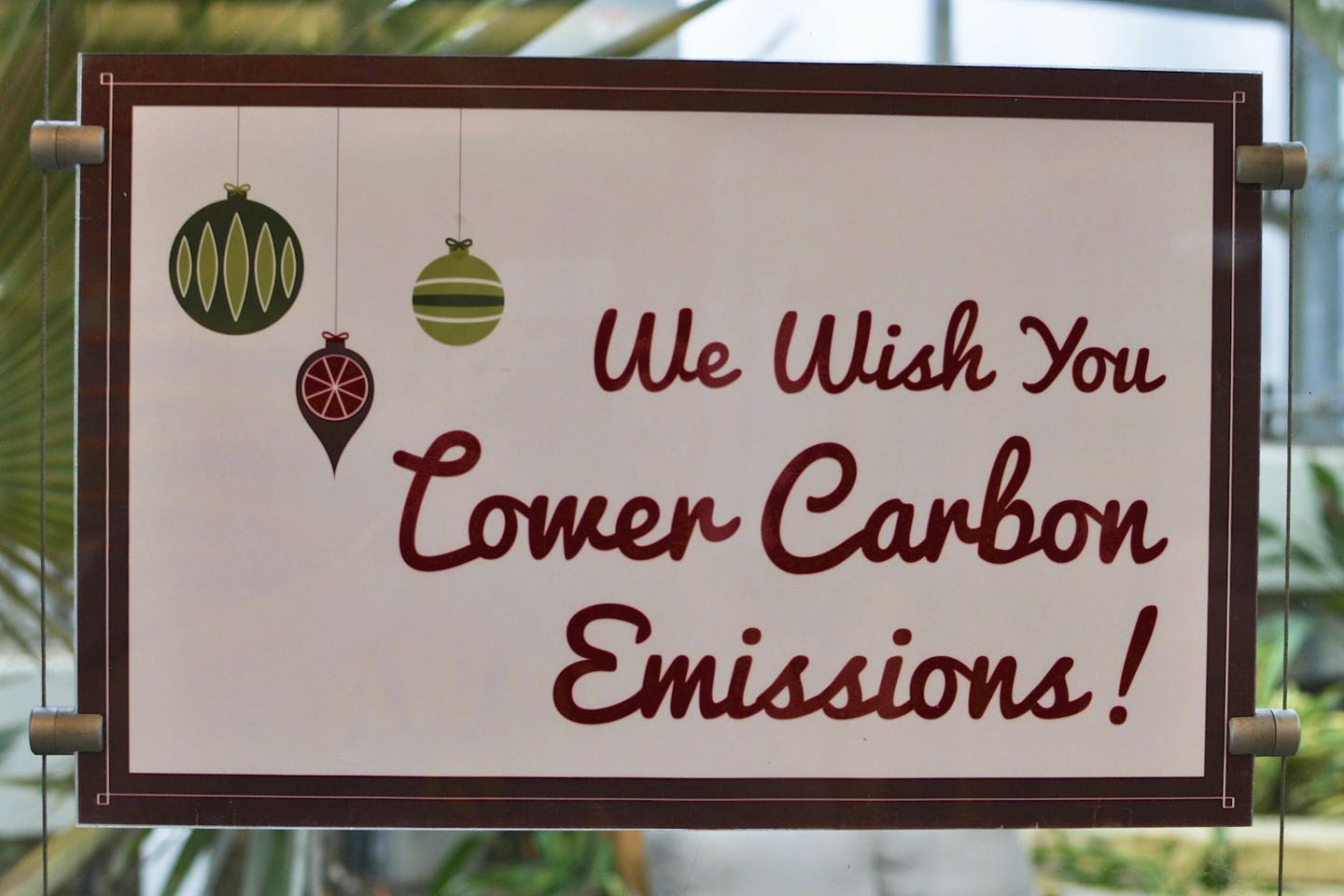 We wish you lower carbon emissions