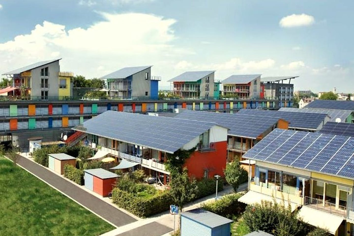 Solar rooftops in Freiburg, Germany