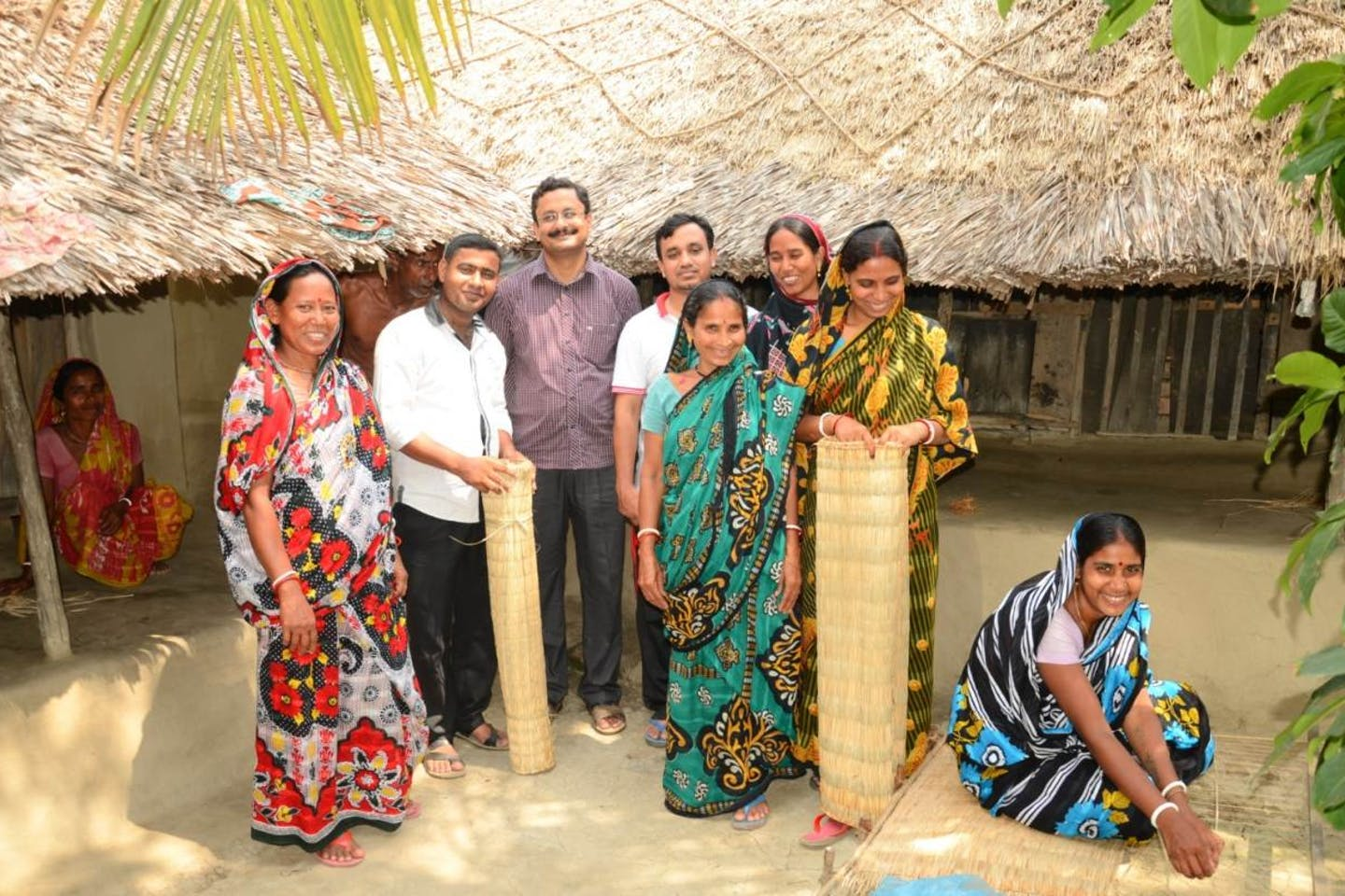 Sundarban women in Bangladesh sell reed mats