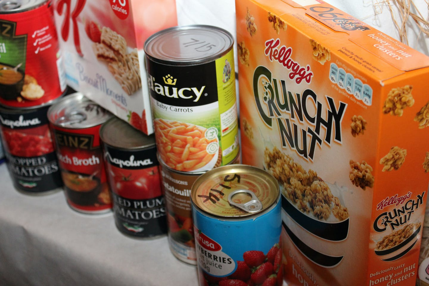 Foods at the food bank