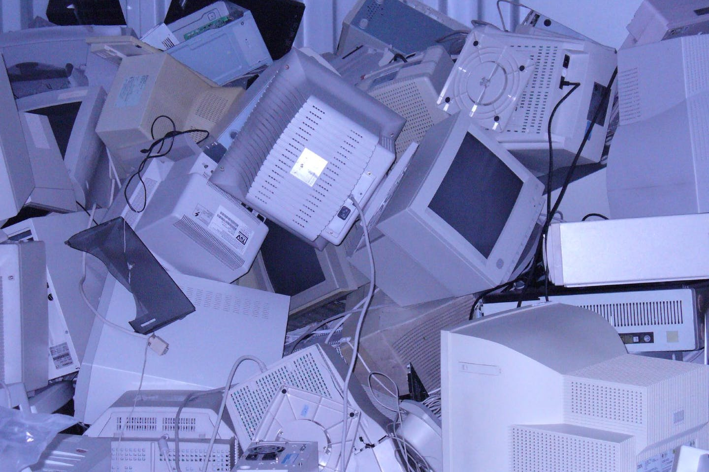 mass grave of computers
