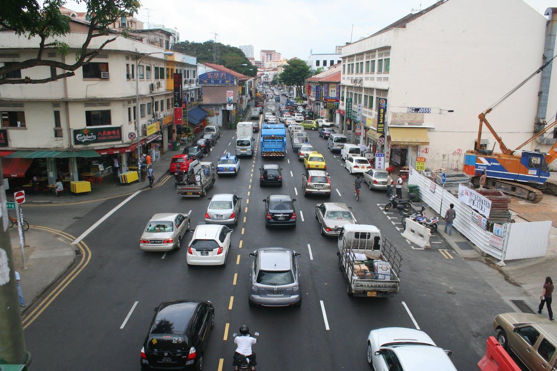 Traffic in Geylang, Singapore