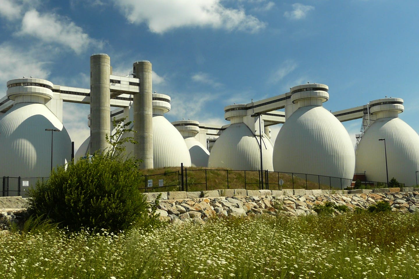 Deer Island Wastewater Treatment Plant number 2 in Winthrop, Massachusetts, USA