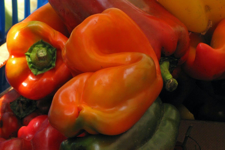 Misshapen bell peppers