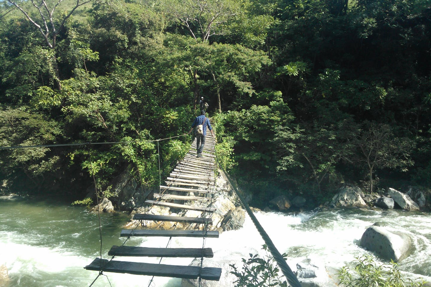 Footbridge over the Coapa River in Chiapas, Mexico
