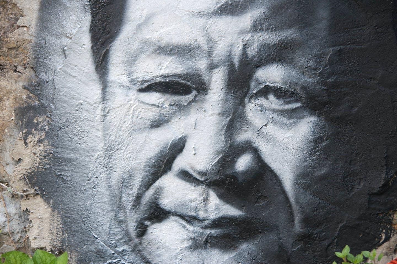 Xi Jinping in grayscale