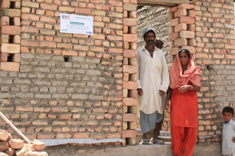 Pakistani family's new aid-sponsored brick house