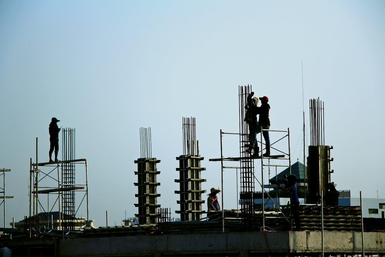 Construction in Phnom Penh, Cambodia