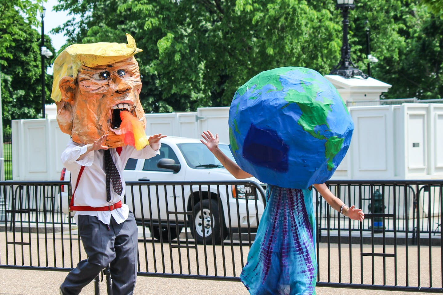 Fire-breathing Trump and the planet