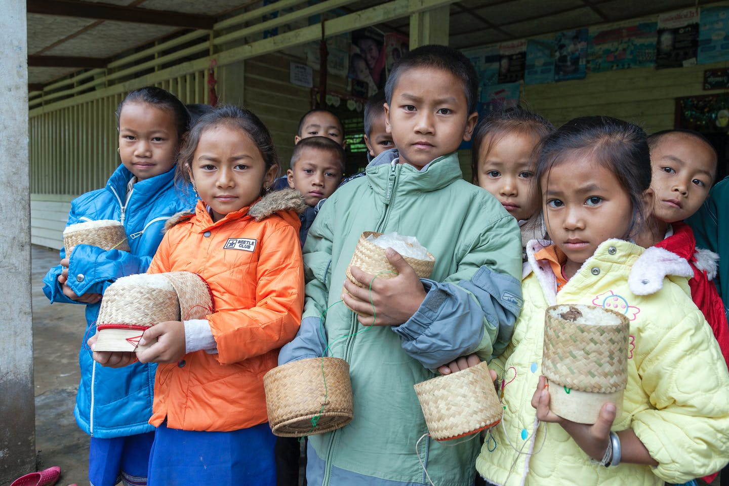 Children in Laos get free school lunches in government and World Bank programme