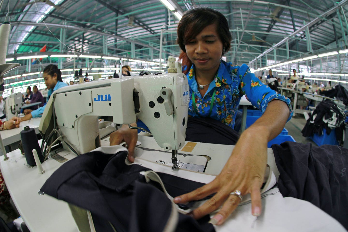 Garment factory worker in Cambodia