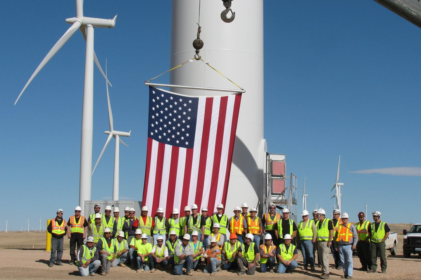 Duke Energy wind power project in Wyoming, USA