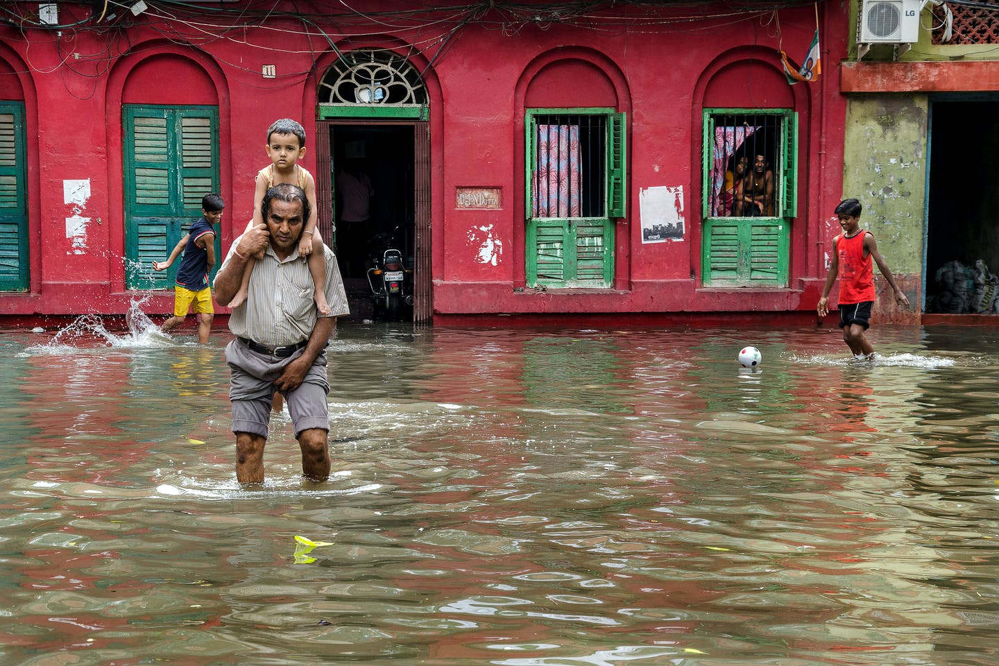 Flood in Kolkata, India