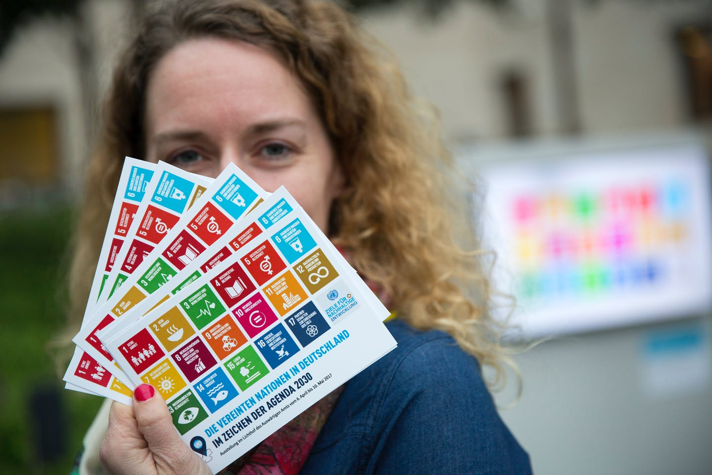 German lady and the Sustainable Development Goals (SDGs)