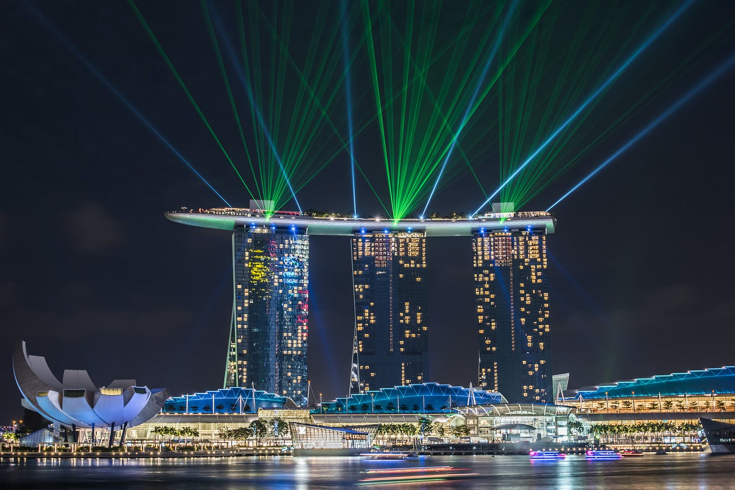 Marina Bay Sands lasershow in Singapore