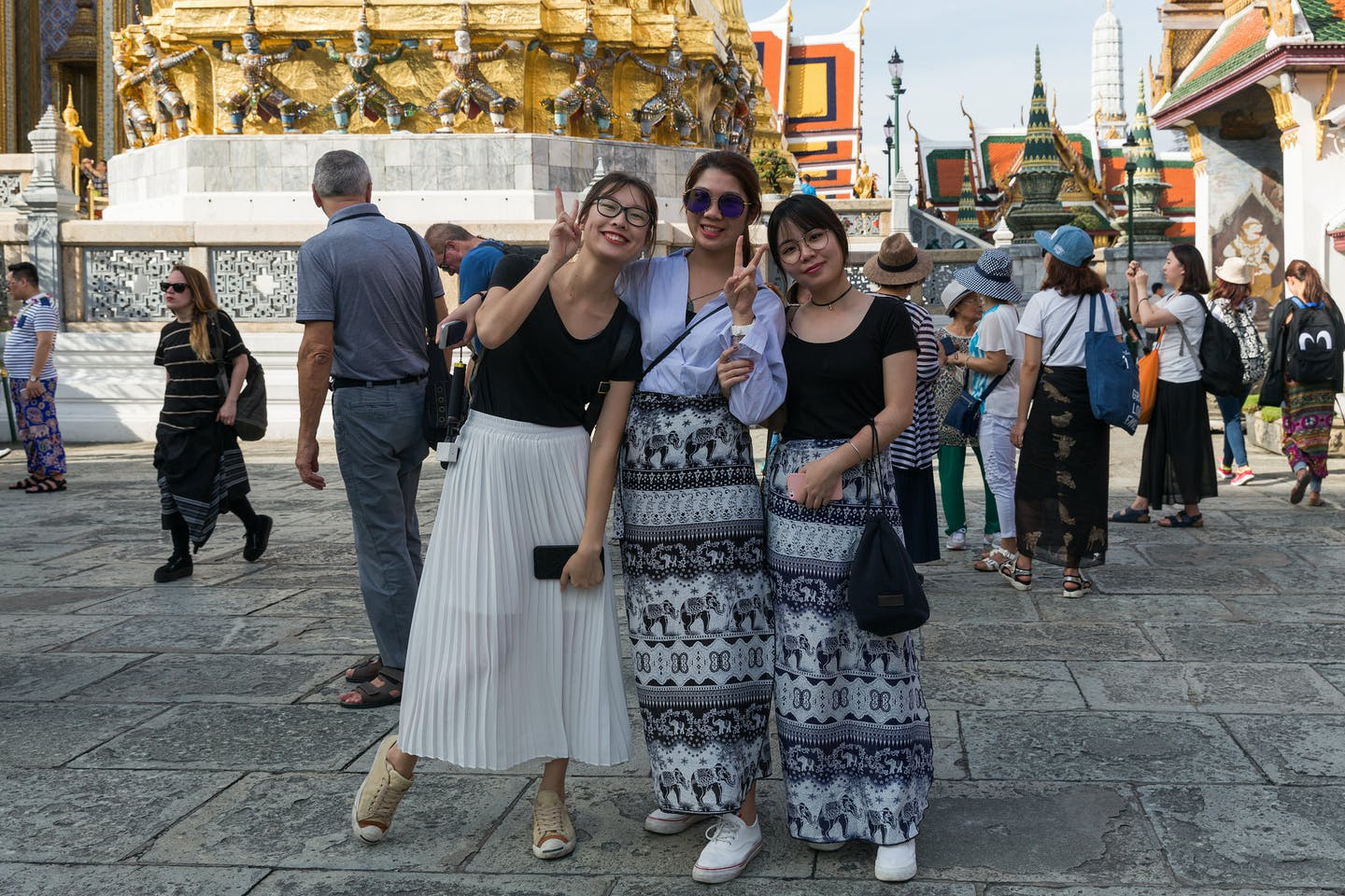 Tourists in Bangkok, Thailand