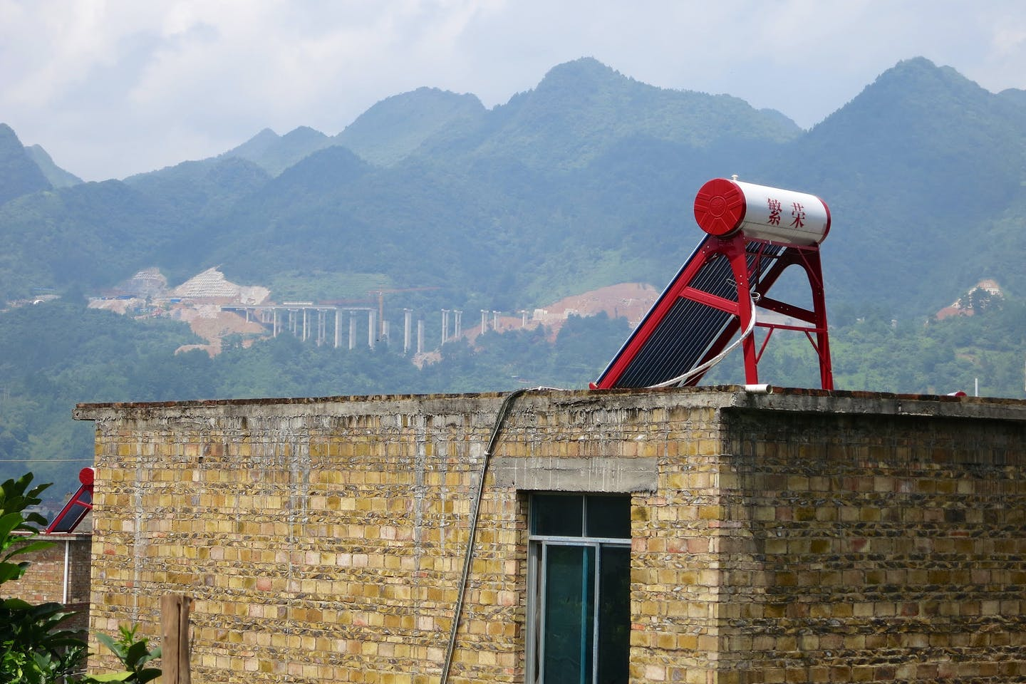 Solar panel in a once-isolated region in Southwest China