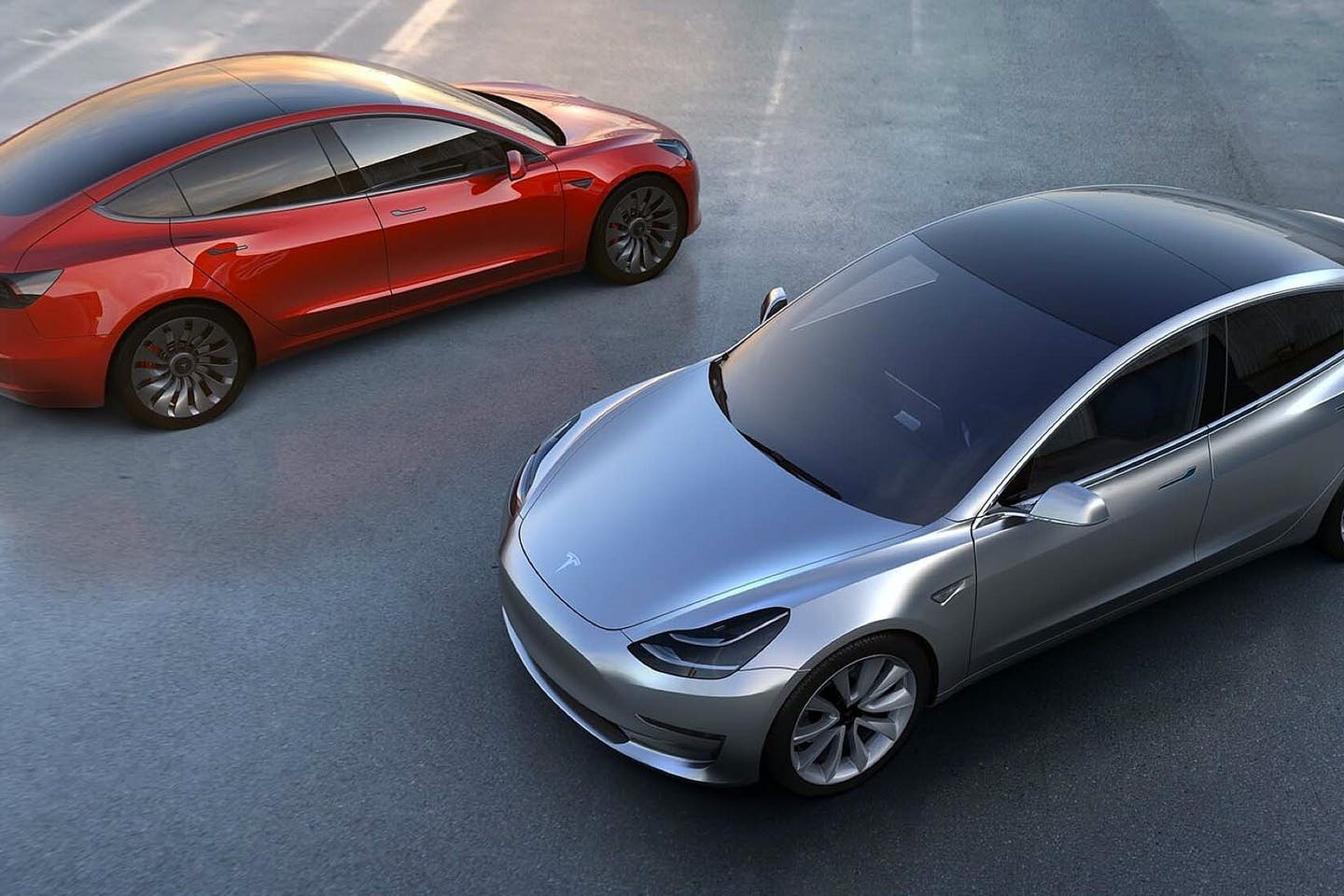 Tesla 3 electric vehicles