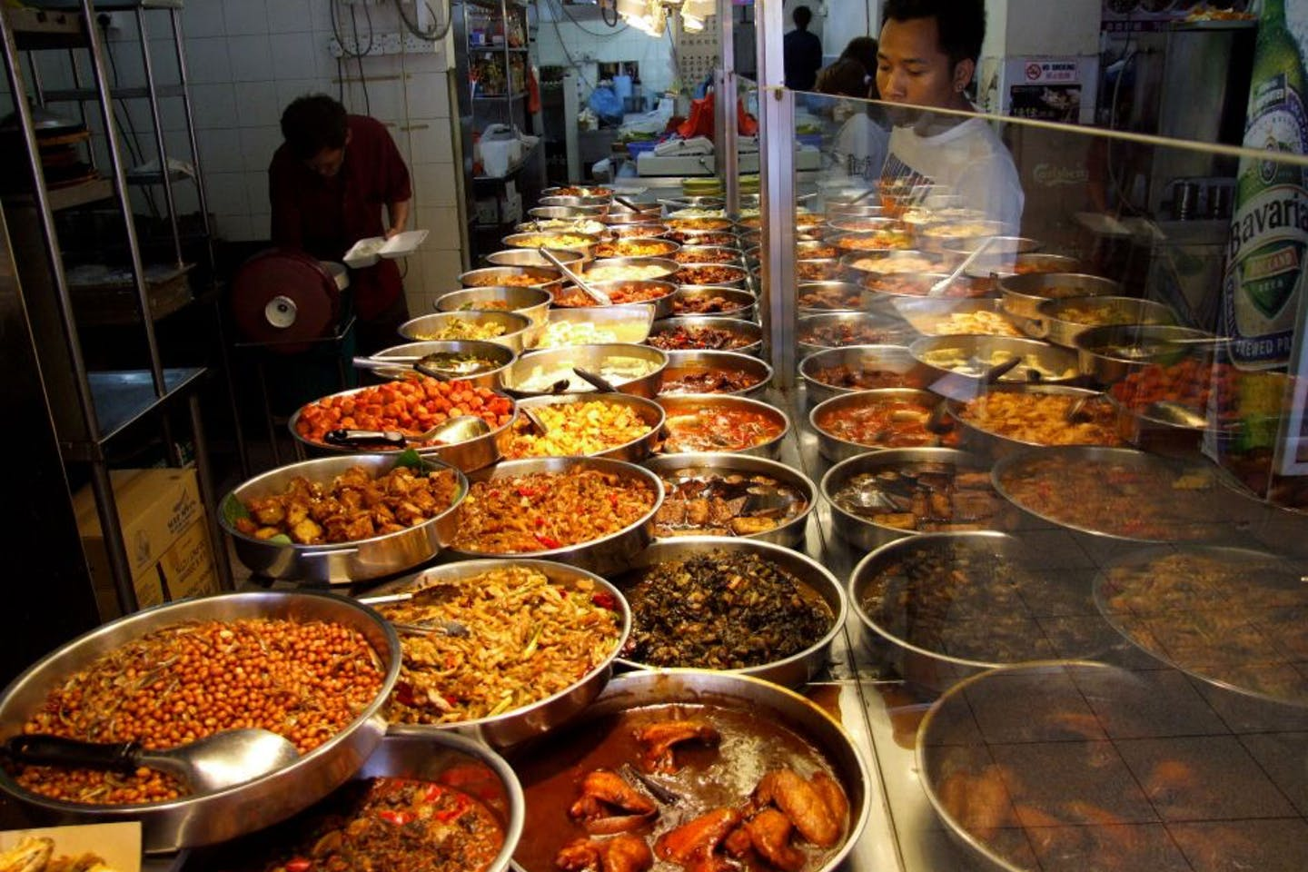 Chinese food at a Singapore coffee shop or hawker centre