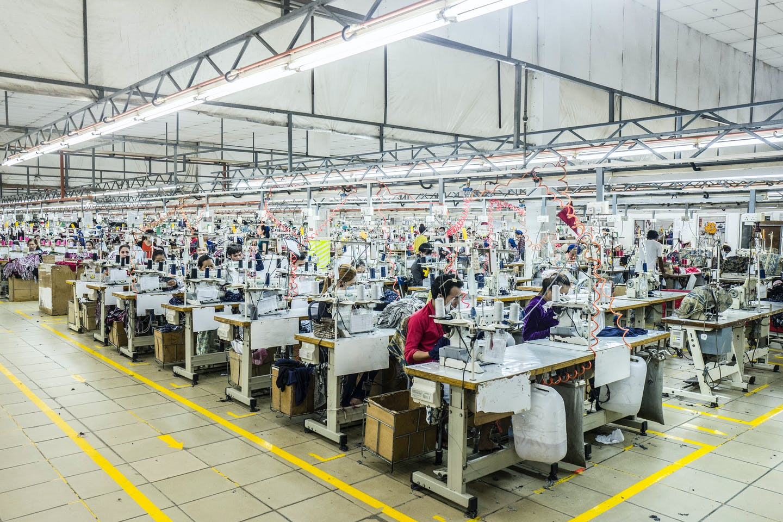 A garment factory in Cambodia
