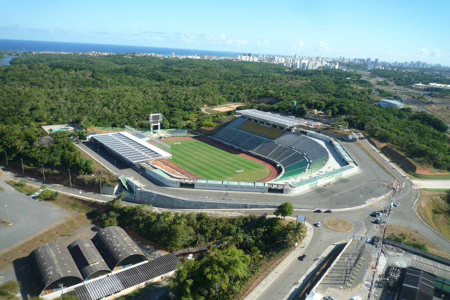 Estádio de Pituacu in the Brazilian city of Salvador de Bahia