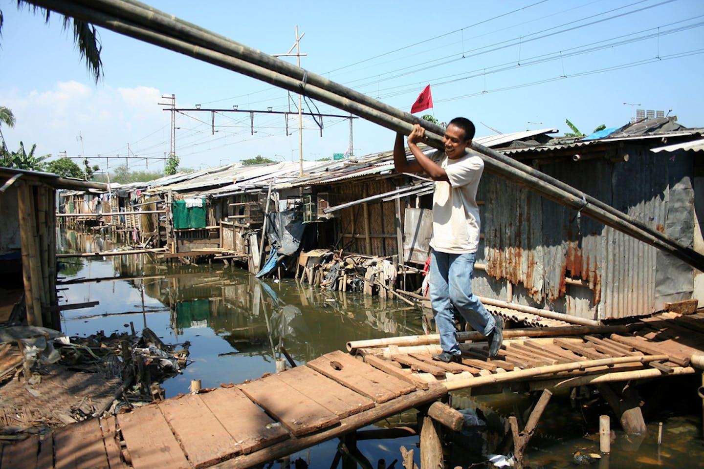 Urban slums in Indonesia
