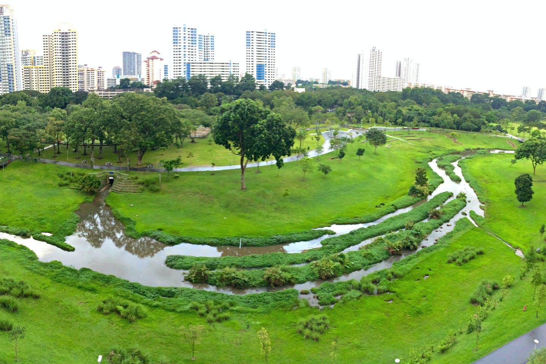Kallang river basin at Bishan Park