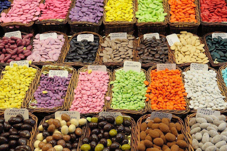 The Boqueria Market in Barcelona, Spain