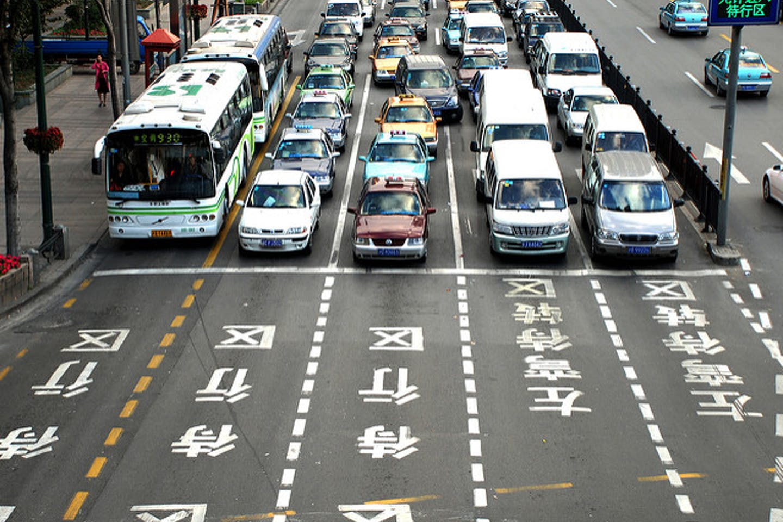 rush hour traffic china
