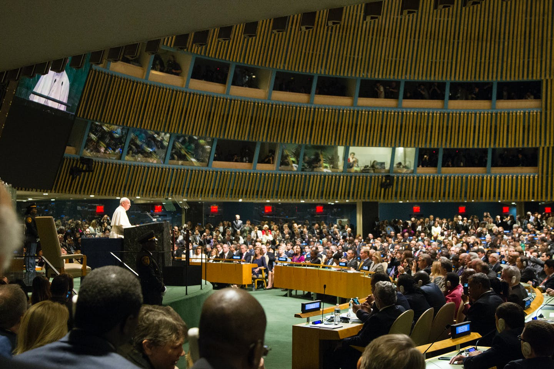 pope at UN SD summit