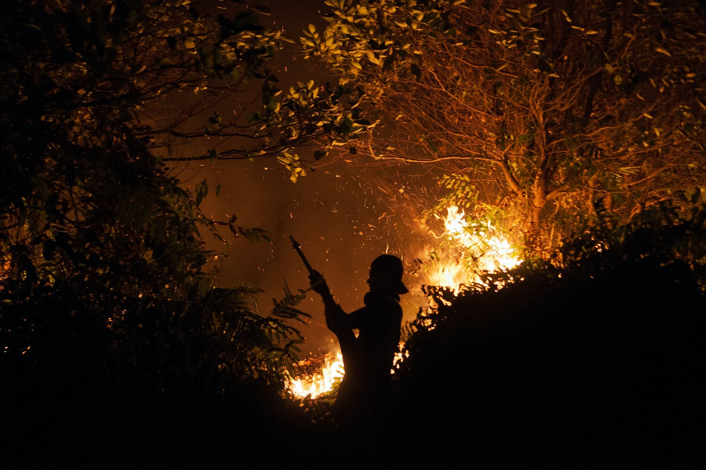 kalimantan night firefighters
