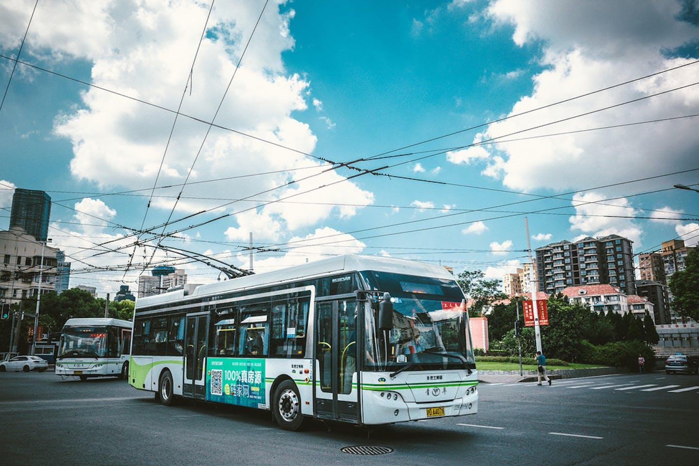 electric bus china shanghai