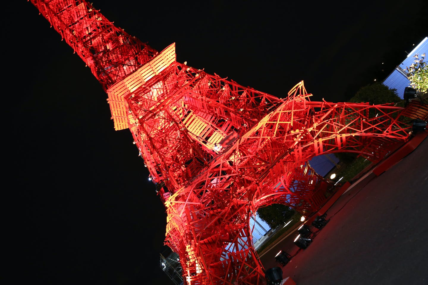 red eiffel tower UNFCCC