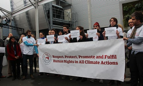 Weakened rights language in Paris climate draft sparks alarm