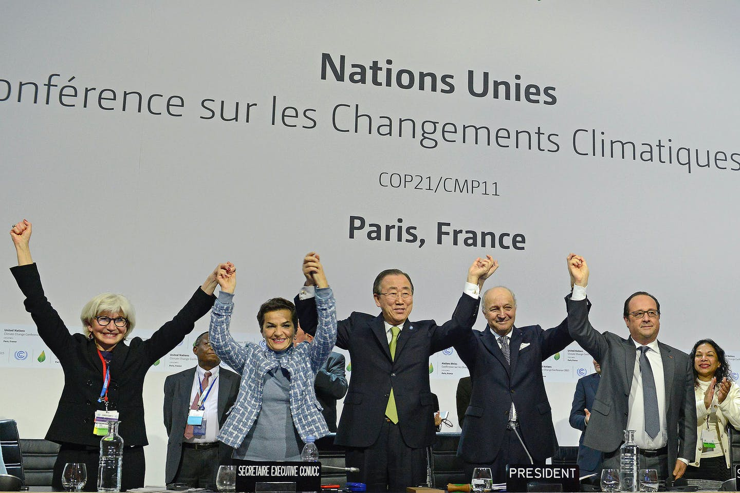 happy faces at COP21