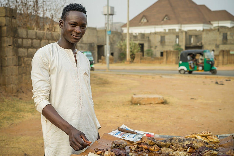 Suya street vendor