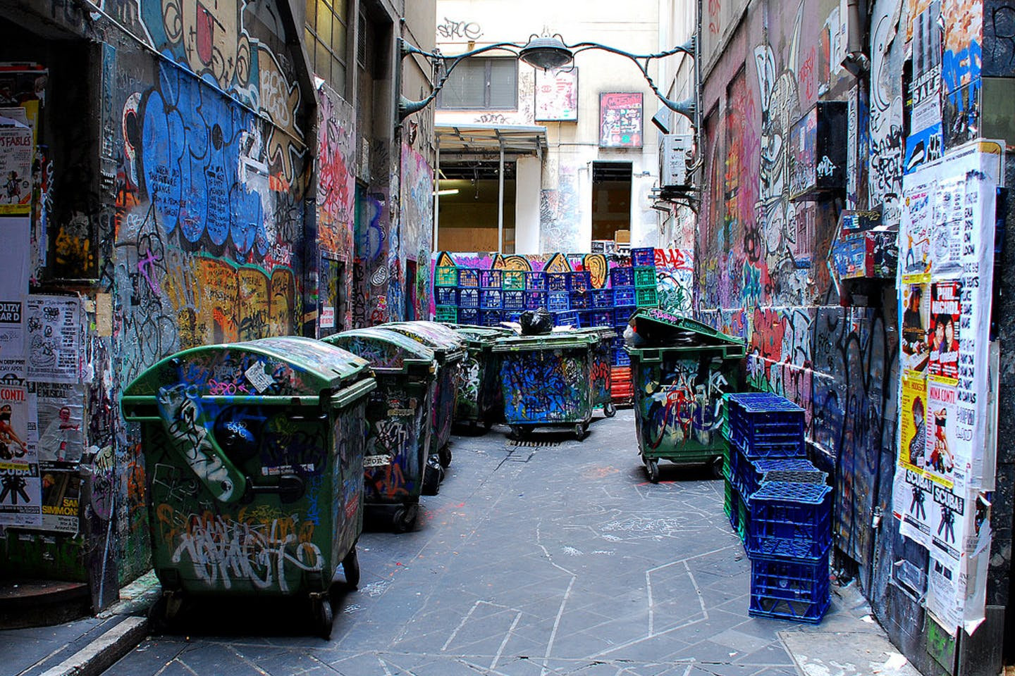 Colourful trash in Melbourne, Australia