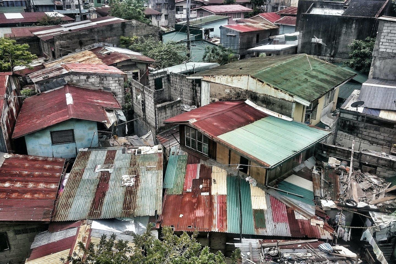 Slums in Manila.