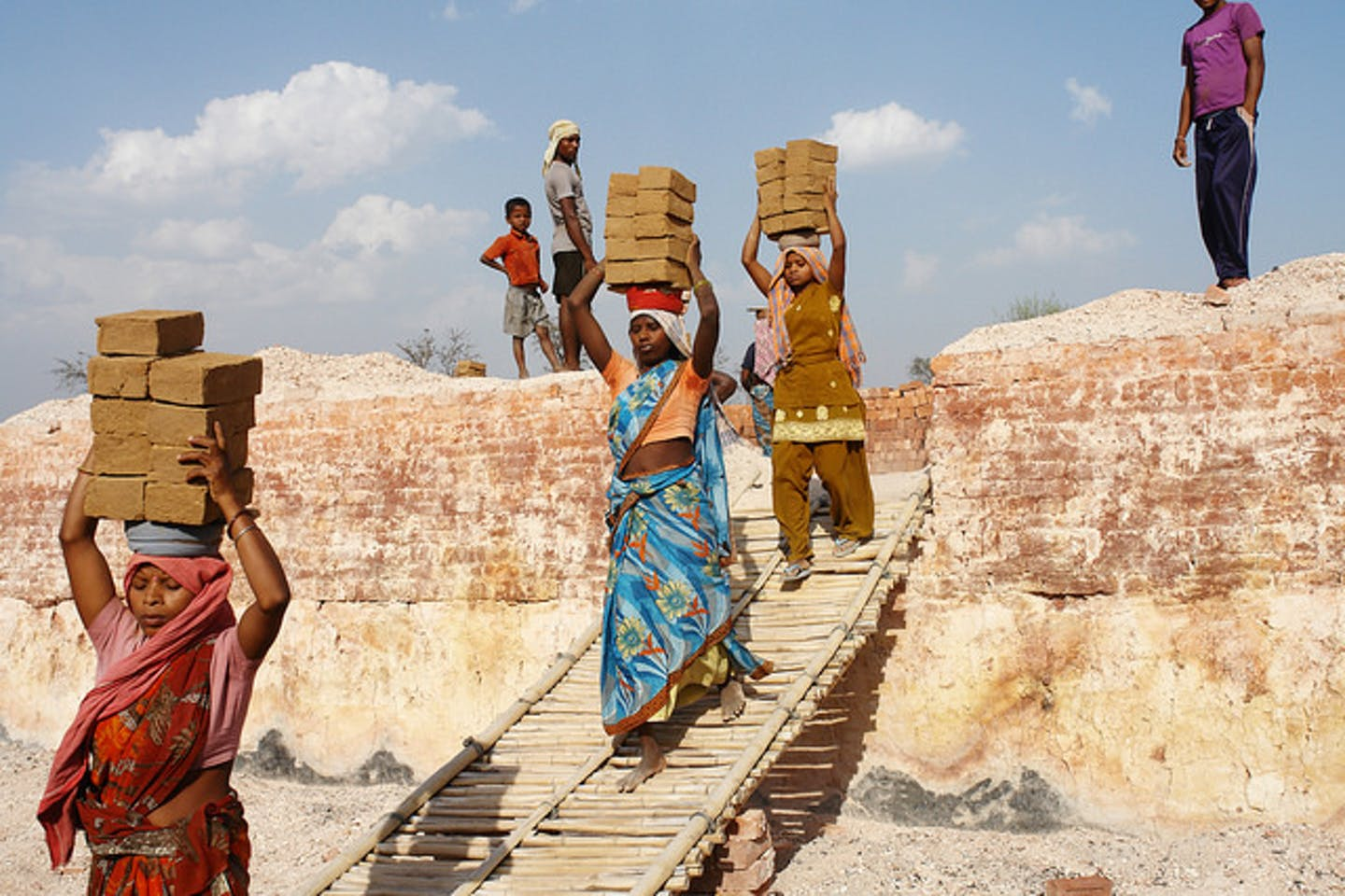 bonded brick kiln women workers in India