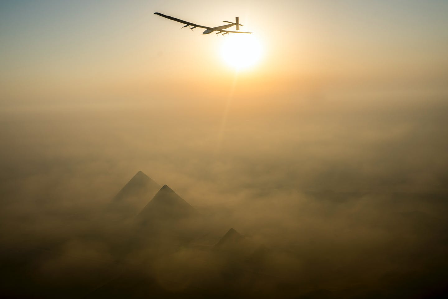 solar impulse lands cairo