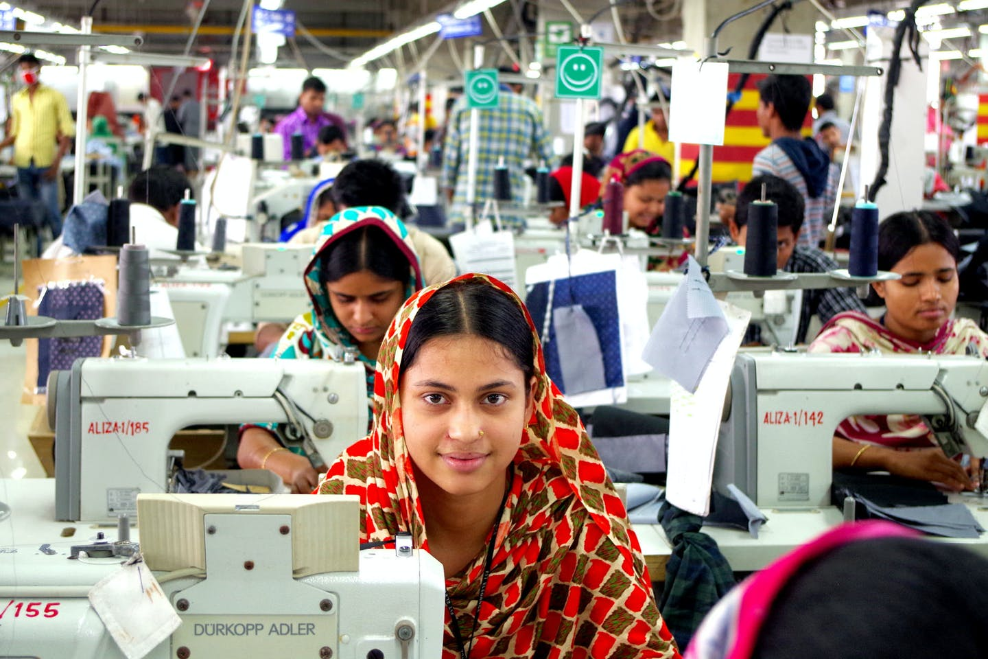 Workers at this garment factory in Gazipur, Bangladesh