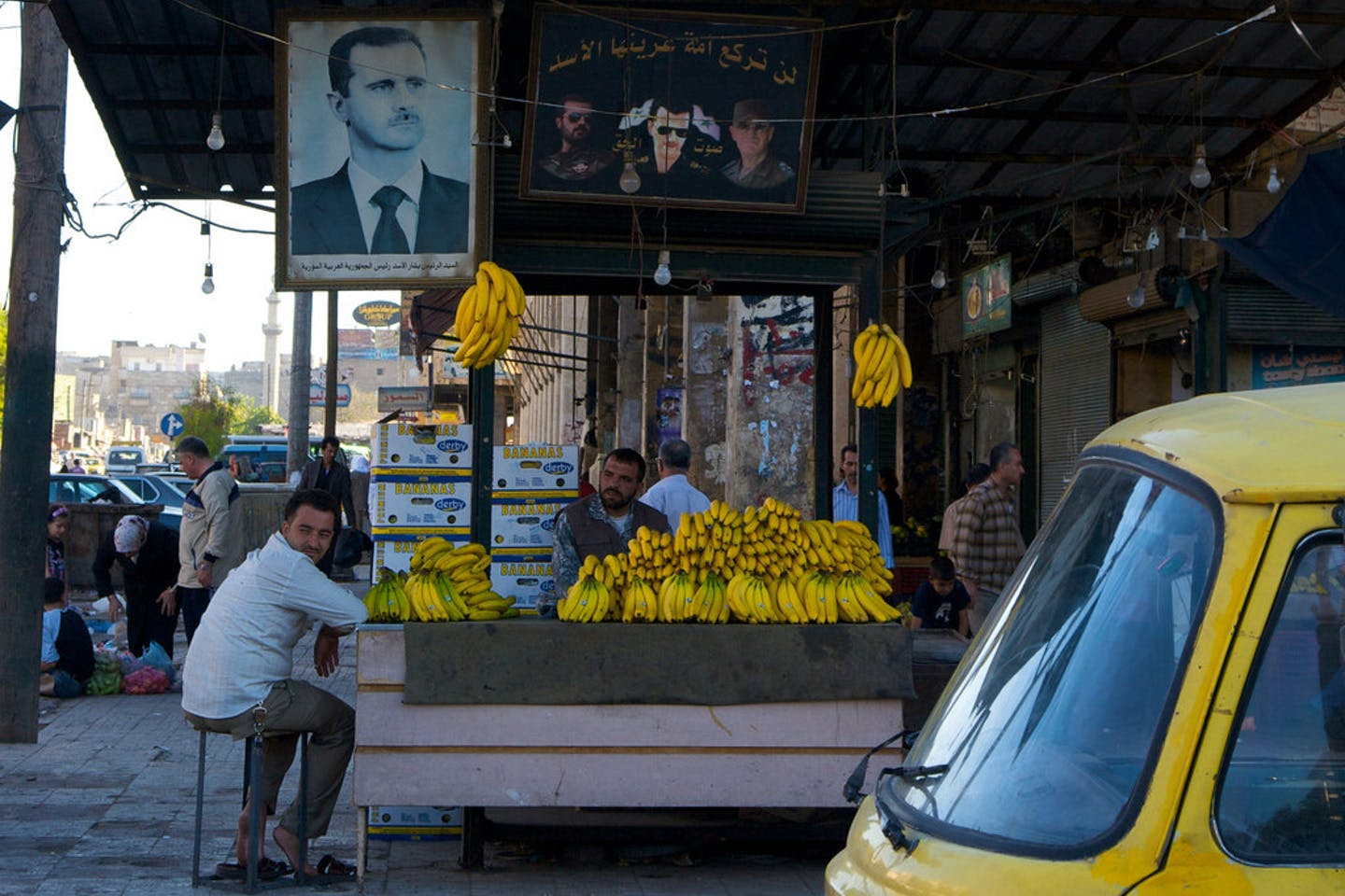 Bananas from a better time in Aleppo, Syria
