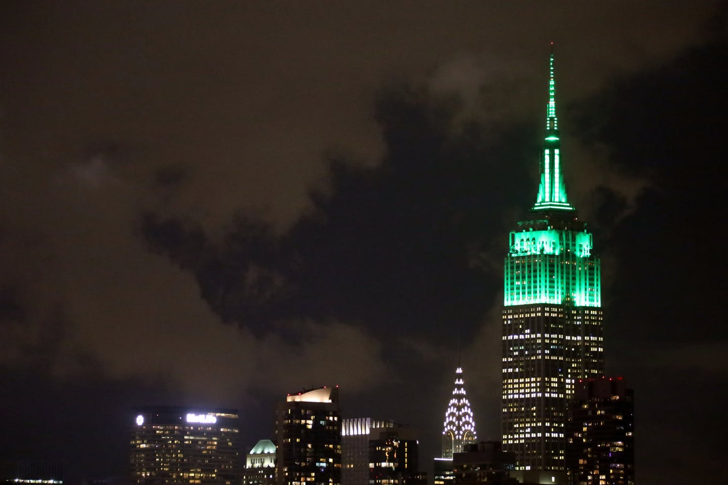 Green light on Empire State
